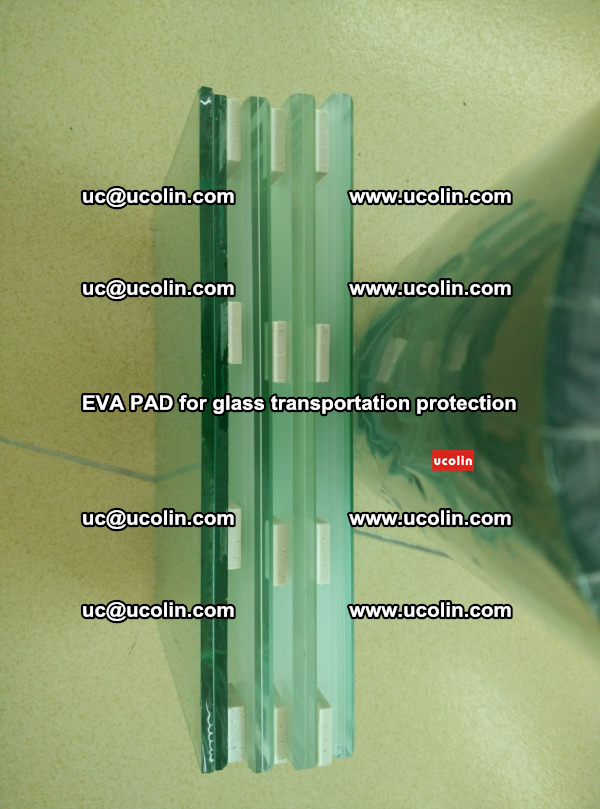 EVA CORK PAD for laminated safety glass transportation protection (62)