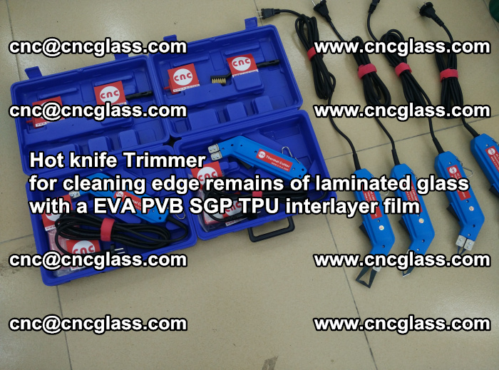 Hot knife Trimmer for cleaning edge remains of laminated glass with a EVA PVB SGP TPU interlayer film (10)
