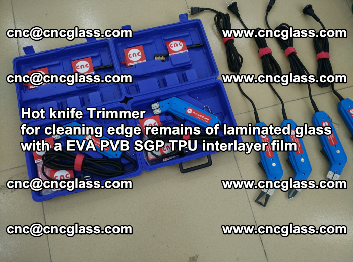 Hot knife Trimmer for cleaning edge remains of laminated glass with a EVA PVB SGP TPU interlayer film (11)
