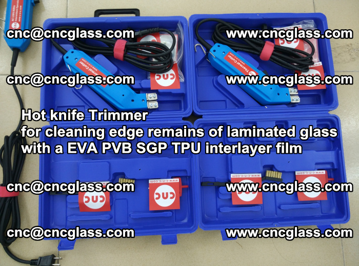 Hot knife Trimmer for cleaning edge remains of laminated glass with a EVA PVB SGP TPU interlayer film (117)