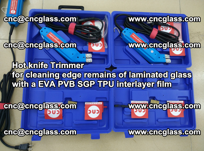 Hot knife Trimmer for cleaning edge remains of laminated glass with a EVA PVB SGP TPU interlayer film (119)