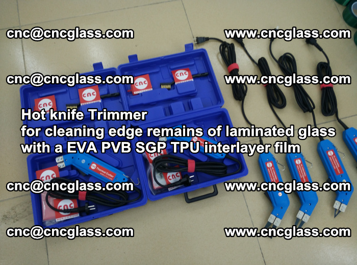Hot knife Trimmer for cleaning edge remains of laminated glass with a EVA PVB SGP TPU interlayer film (13)