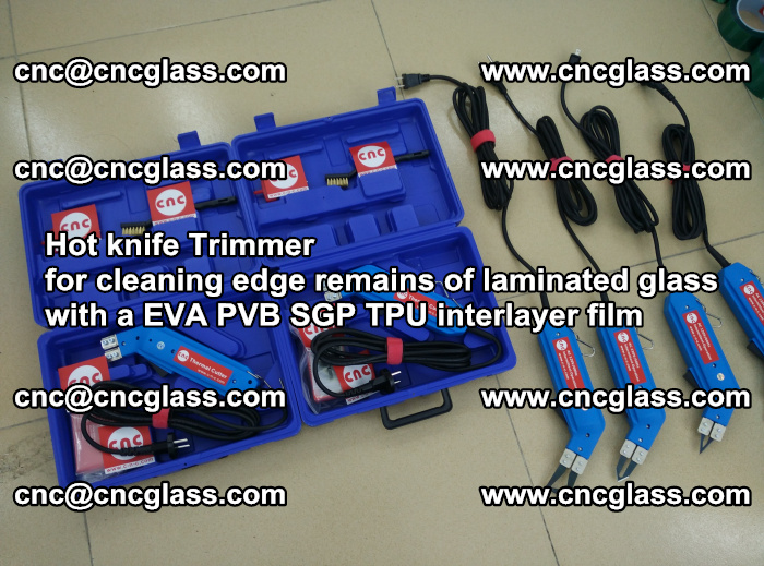 Hot knife Trimmer for cleaning edge remains of laminated glass with a EVA PVB SGP TPU interlayer film (14)