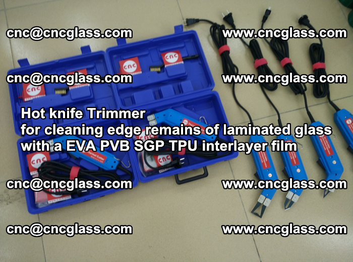 Hot knife Trimmer for cleaning edge remains of laminated glass with a EVA PVB SGP TPU interlayer film (15)