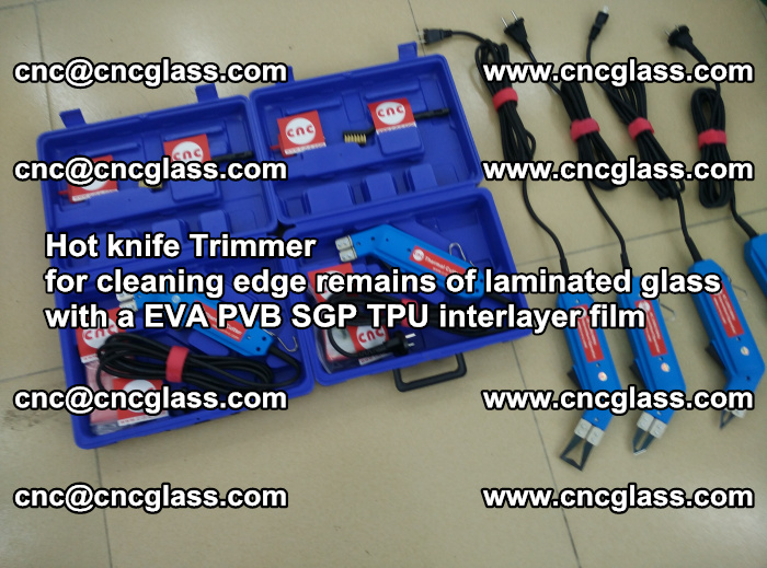 Hot knife Trimmer for cleaning edge remains of laminated glass with a EVA PVB SGP TPU interlayer film (16)