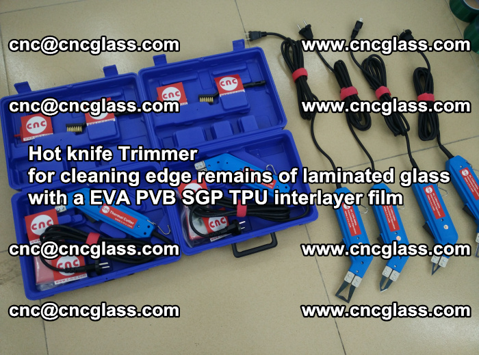 Hot knife Trimmer for cleaning edge remains of laminated glass with a EVA PVB SGP TPU interlayer film (18)