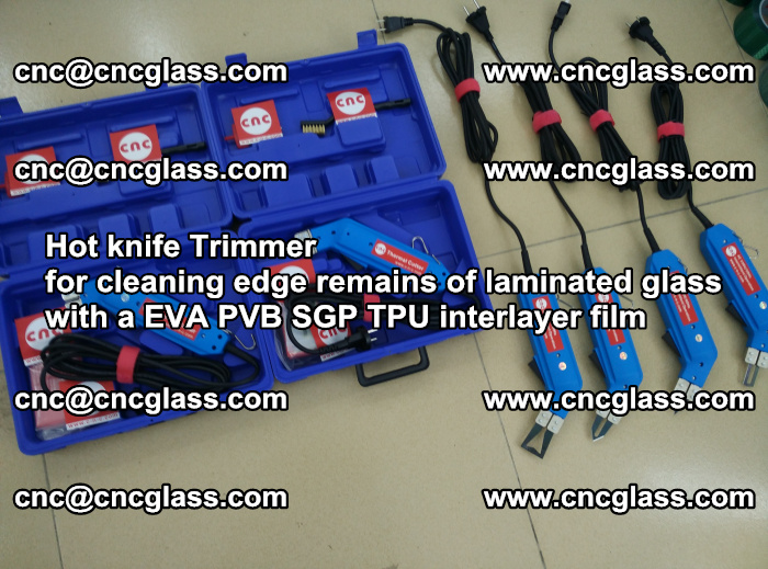 Hot knife Trimmer for cleaning edge remains of laminated glass with a EVA PVB SGP TPU interlayer film (19)
