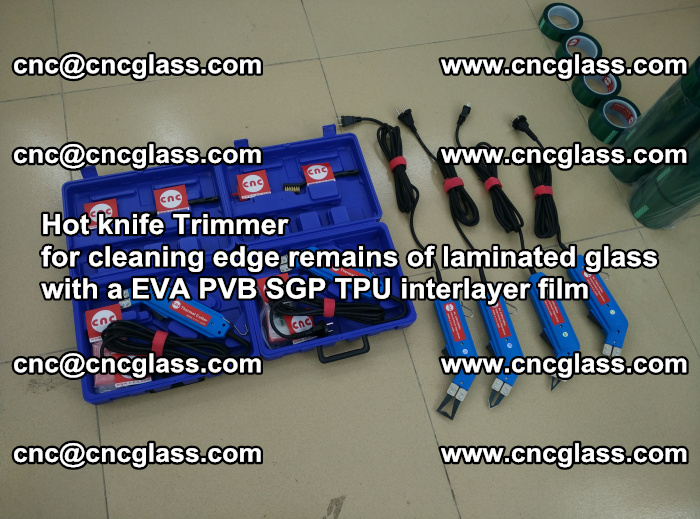 Hot knife Trimmer for cleaning edge remains of laminated glass with a EVA PVB SGP TPU interlayer film (2)
