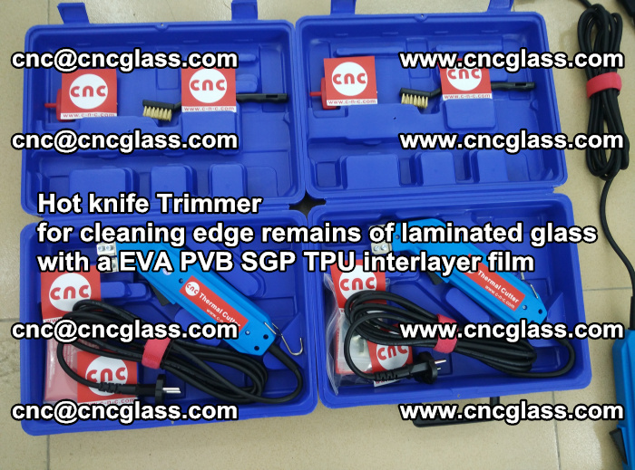 Hot knife Trimmer for cleaning edge remains of laminated glass with a EVA PVB SGP TPU interlayer film (24)