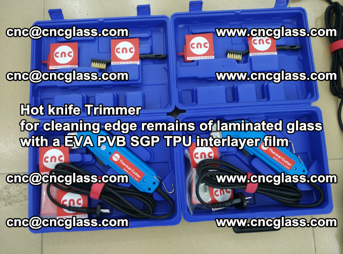 Hot knife Trimmer for cleaning edge remains of laminated glass with a EVA PVB SGP TPU interlayer film (27)