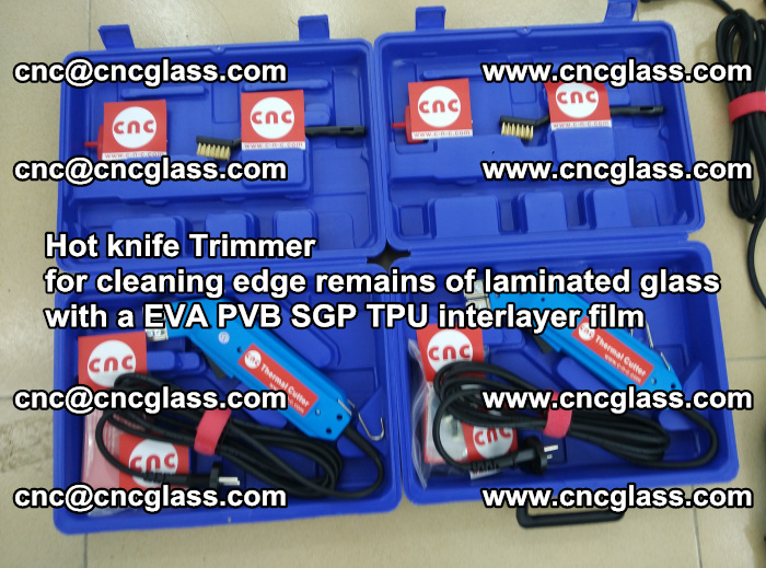 Hot knife Trimmer for cleaning edge remains of laminated glass with a EVA PVB SGP TPU interlayer film (28)