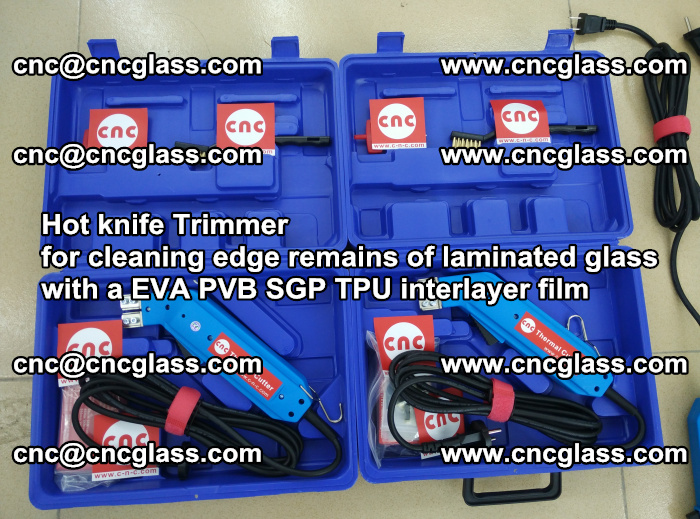 Hot knife Trimmer for cleaning edge remains of laminated glass with a EVA PVB SGP TPU interlayer film (29)