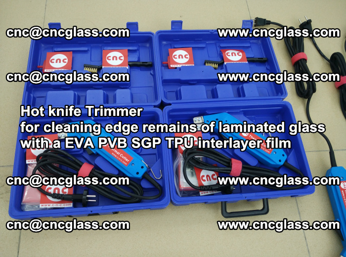 Hot knife Trimmer for cleaning edge remains of laminated glass with a EVA PVB SGP TPU interlayer film (32)