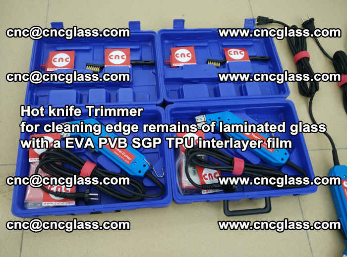 Hot knife Trimmer for cleaning edge remains of laminated glass with a EVA PVB SGP TPU interlayer film (33)