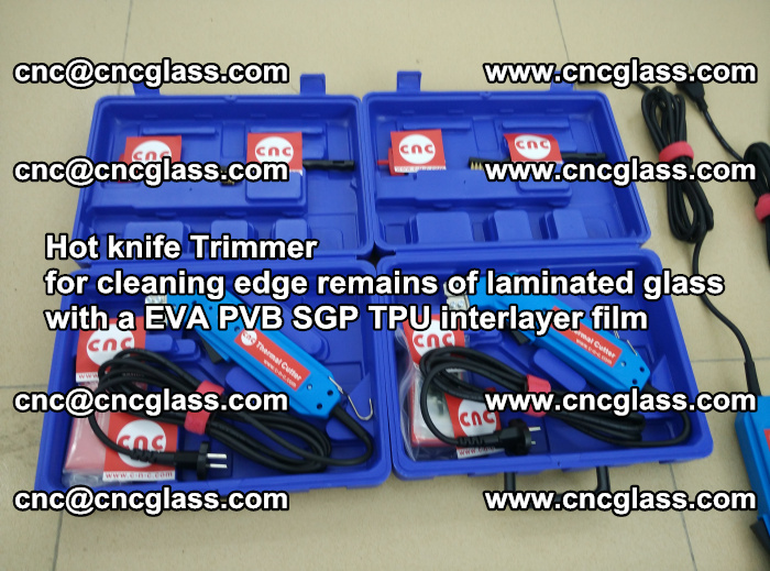 Hot knife Trimmer for cleaning edge remains of laminated glass with a EVA PVB SGP TPU interlayer film (34)