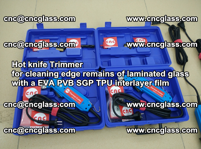 Hot knife Trimmer for cleaning edge remains of laminated glass with a EVA PVB SGP TPU interlayer film (35)