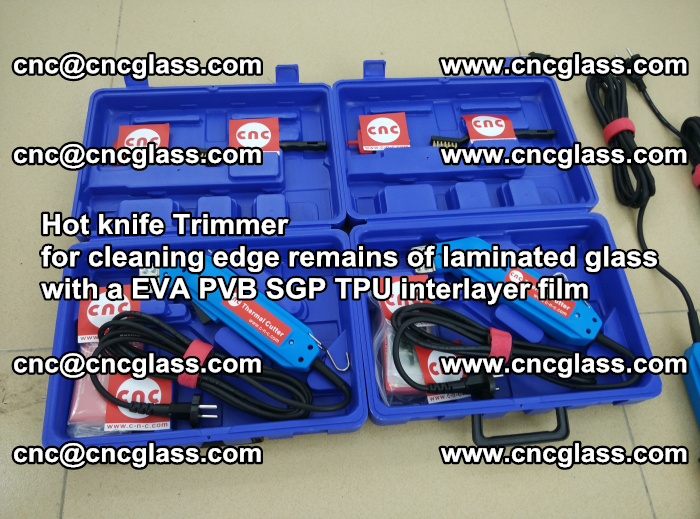Hot knife Trimmer for cleaning edge remains of laminated glass with a EVA PVB SGP TPU interlayer film (36)