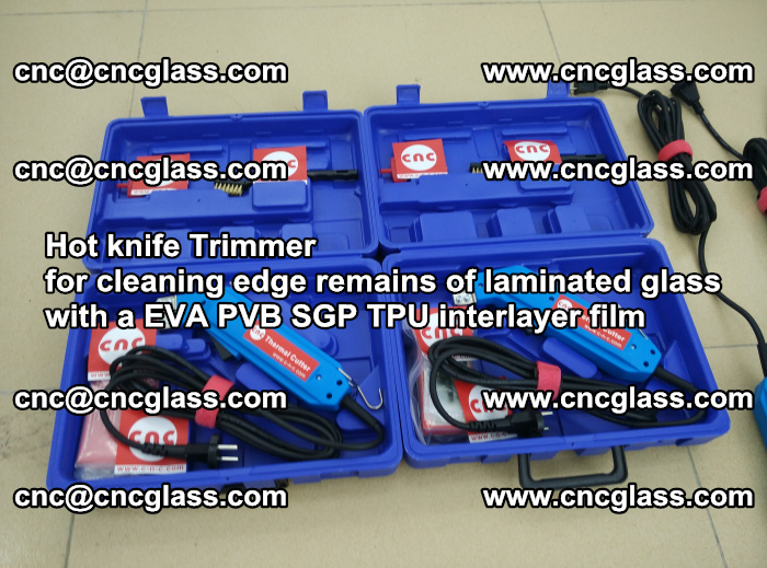 Hot knife Trimmer for cleaning edge remains of laminated glass with a EVA PVB SGP TPU interlayer film (37)
