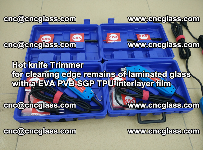 Hot knife Trimmer for cleaning edge remains of laminated glass with a EVA PVB SGP TPU interlayer film (38)