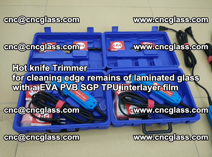 Hot knife Trimmer for cleaning edge remains of laminated glass with a EVA PVB SGP TPU interlayer film (39)