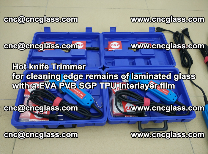Hot knife Trimmer for cleaning edge remains of laminated glass with a EVA PVB SGP TPU interlayer film (40)