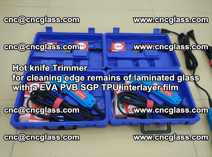 Hot knife Trimmer for cleaning edge remains of laminated glass with a EVA PVB SGP TPU interlayer film (41)
