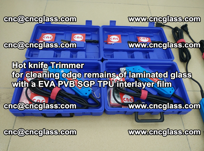 Hot knife Trimmer for cleaning edge remains of laminated glass with a EVA PVB SGP TPU interlayer film (42)