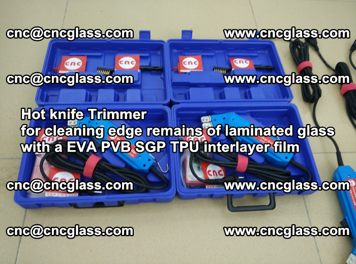 Hot knife Trimmer for cleaning edge remains of laminated glass with a EVA PVB SGP TPU interlayer film (44)