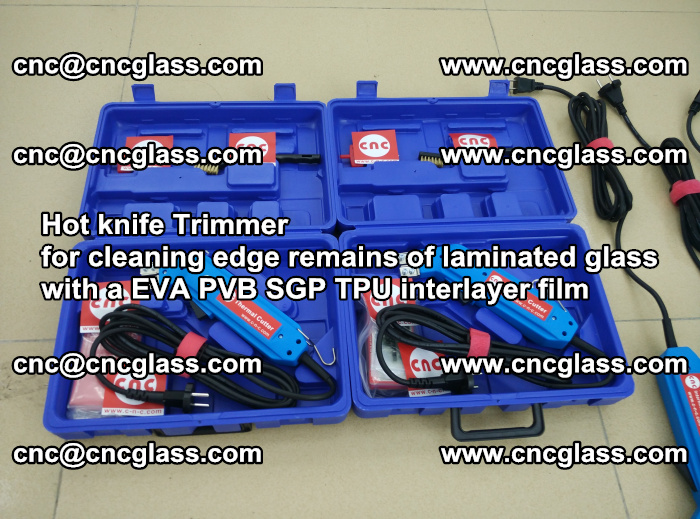 Hot knife Trimmer for cleaning edge remains of laminated glass with a EVA PVB SGP TPU interlayer film (45)