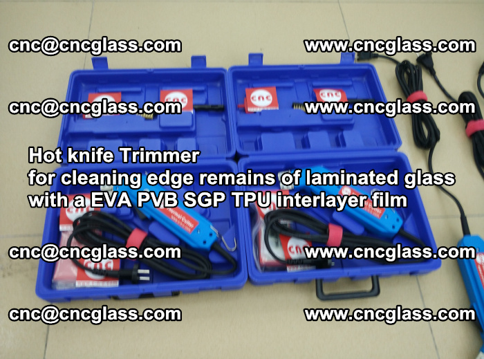 Hot knife Trimmer for cleaning edge remains of laminated glass with a EVA PVB SGP TPU interlayer film (46)