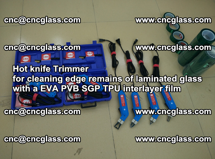 Hot knife Trimmer for cleaning edge remains of laminated glass with a EVA PVB SGP TPU interlayer film (49)