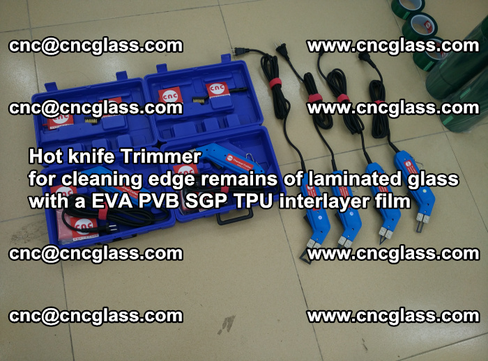 Hot knife Trimmer for cleaning edge remains of laminated glass with a EVA PVB SGP TPU interlayer film (5)