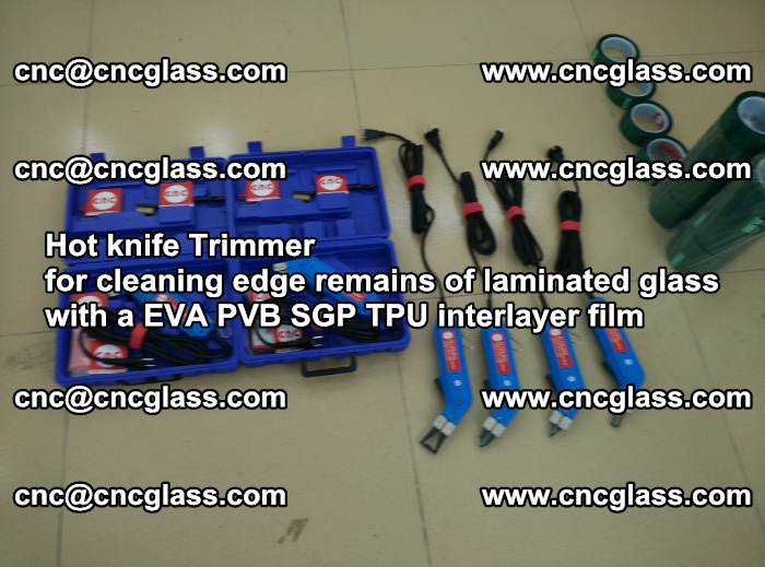 Hot knife Trimmer for cleaning edge remains of laminated glass with a EVA PVB SGP TPU interlayer film (51)