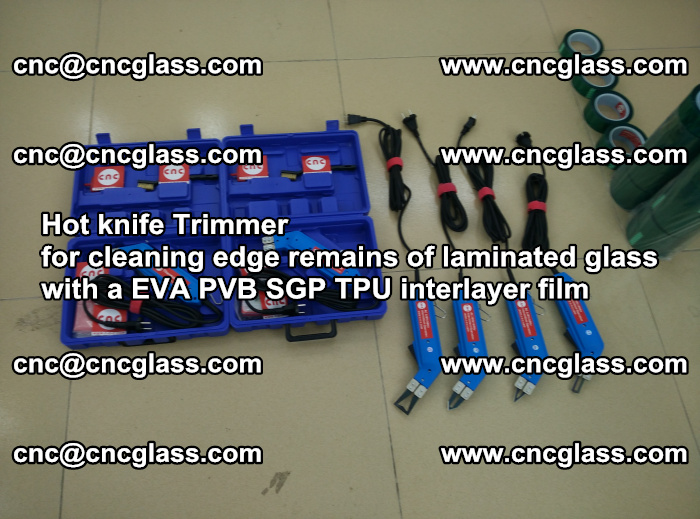 Hot knife Trimmer for cleaning edge remains of laminated glass with a EVA PVB SGP TPU interlayer film (52)
