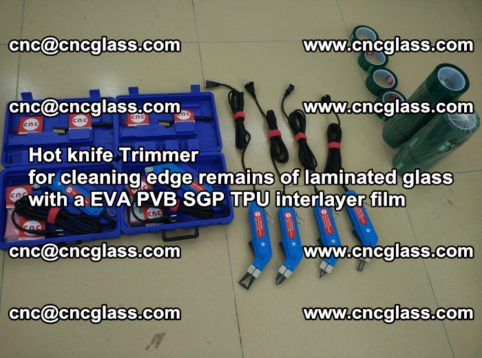 Hot knife Trimmer for cleaning edge remains of laminated glass with a EVA PVB SGP TPU interlayer film (55)