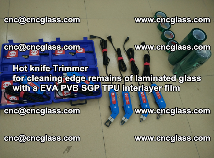 Hot knife Trimmer for cleaning edge remains of laminated glass with a EVA PVB SGP TPU interlayer film (56)