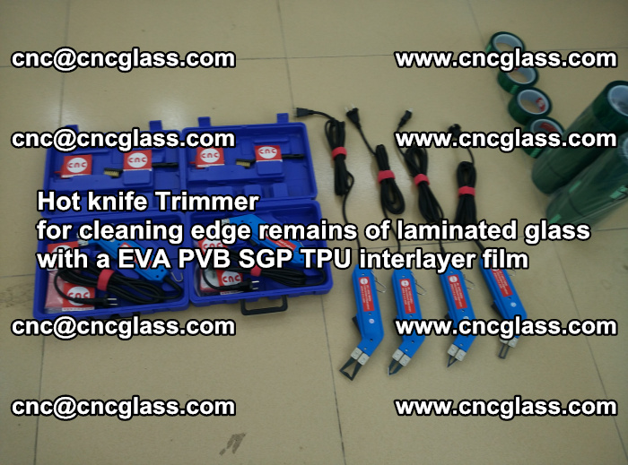 Hot knife Trimmer for cleaning edge remains of laminated glass with a EVA PVB SGP TPU interlayer film (58)