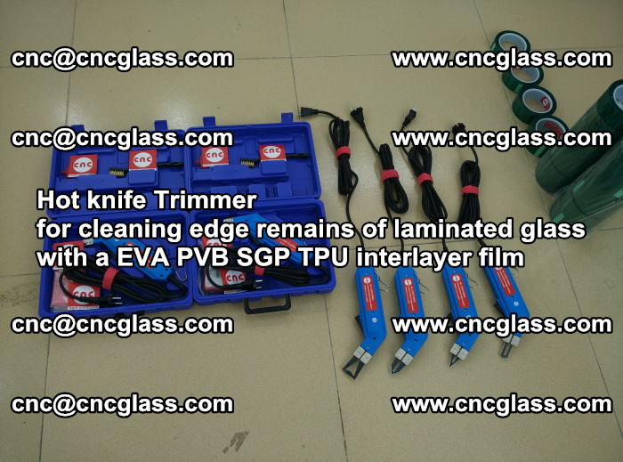 Hot knife Trimmer for cleaning edge remains of laminated glass with a EVA PVB SGP TPU interlayer film (59)