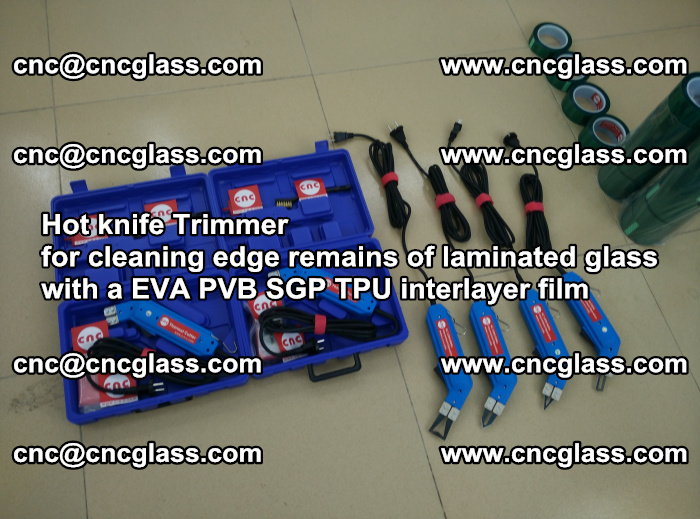 Hot knife Trimmer for cleaning edge remains of laminated glass with a EVA PVB SGP TPU interlayer film (6)