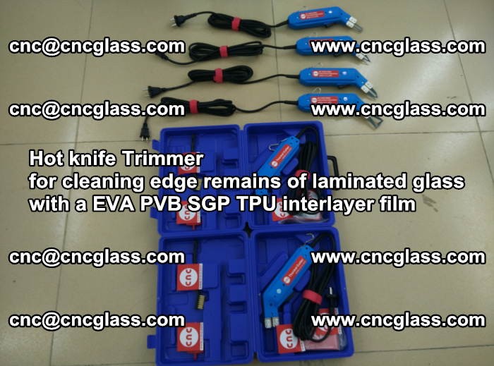 Hot knife Trimmer for cleaning edge remains of laminated glass with a EVA PVB SGP TPU interlayer film (60)