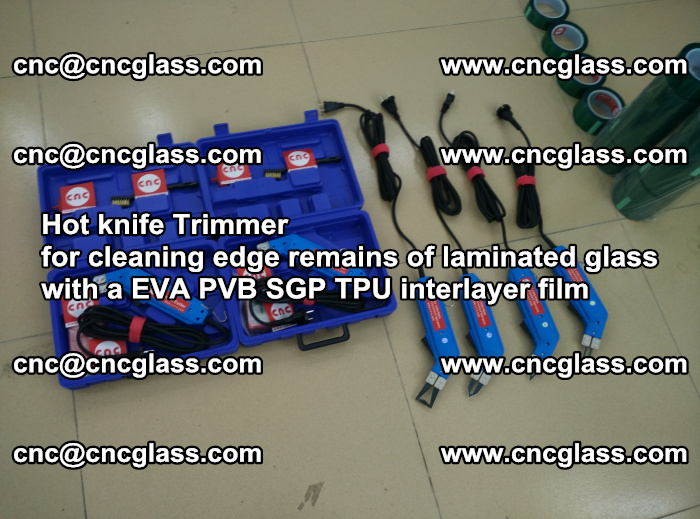 Hot knife Trimmer for cleaning edge remains of laminated glass with a EVA PVB SGP TPU interlayer film (8)