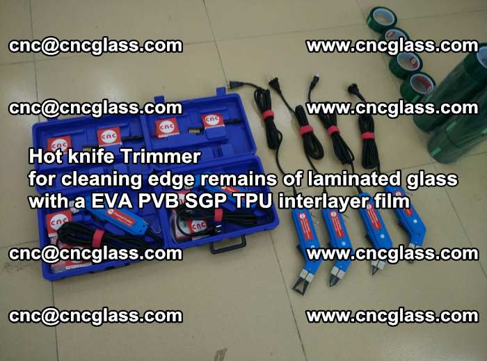 Hot knife Trimmer for cleaning edge remains of laminated glass with a EVA PVB SGP TPU interlayer film (9)