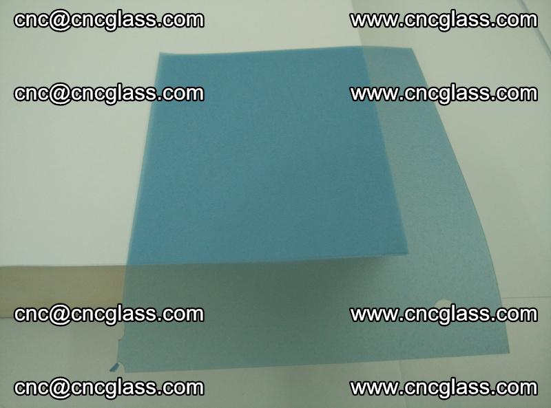EVA glass interlayer film for safety glazing royal blue (transparent) (10)