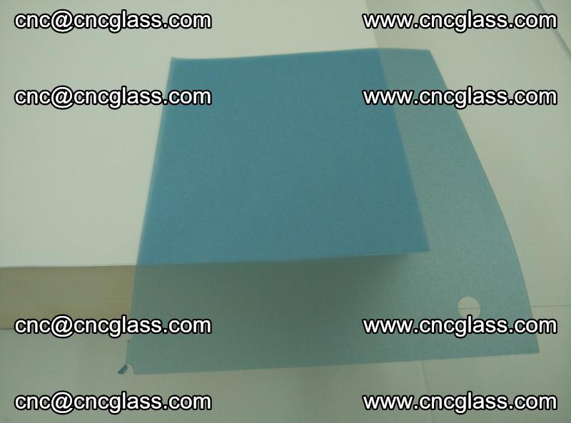 EVA glass interlayer film for safety glazing royal blue (transparent) (12)